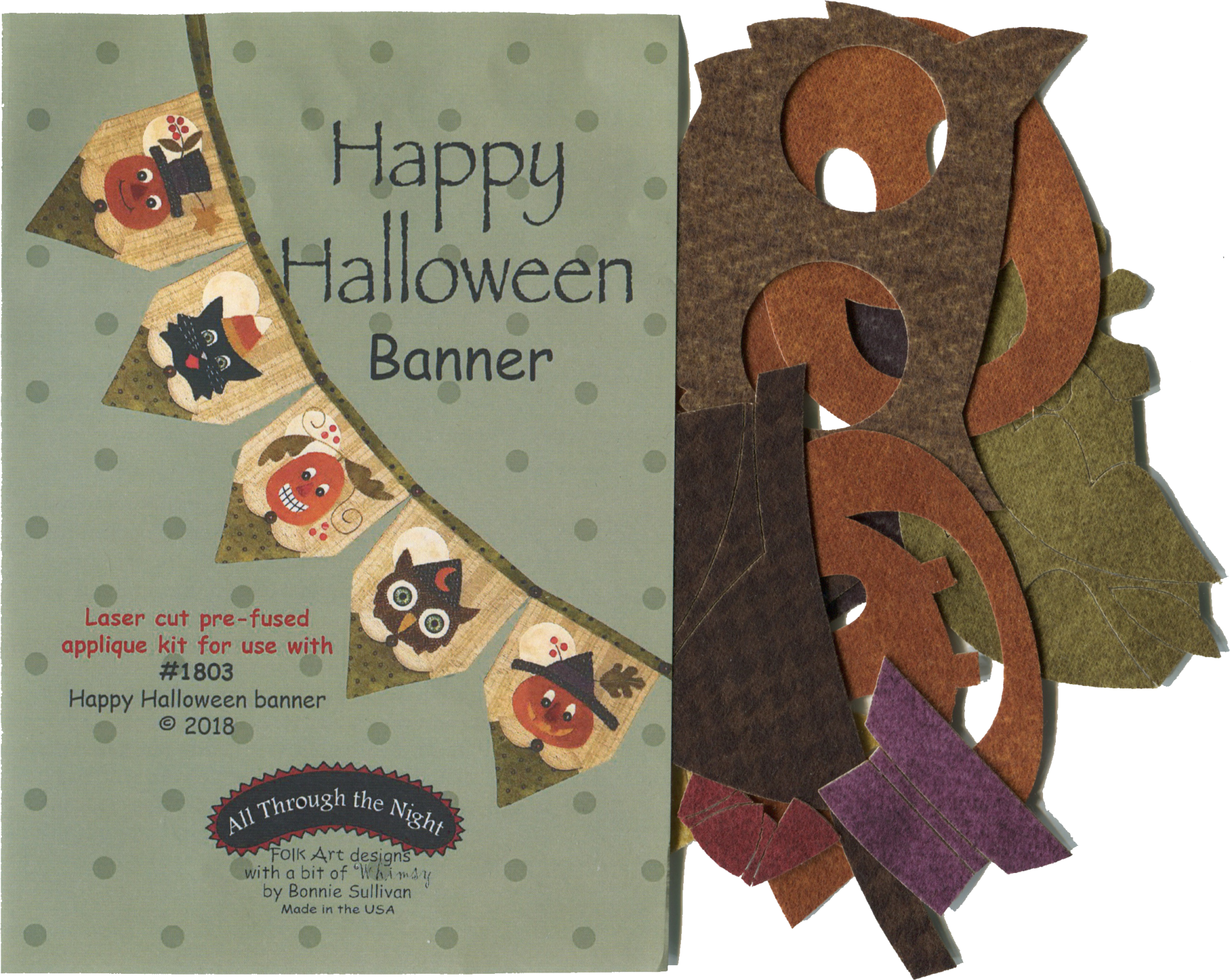 Happy Halloween Banner Applique Kit