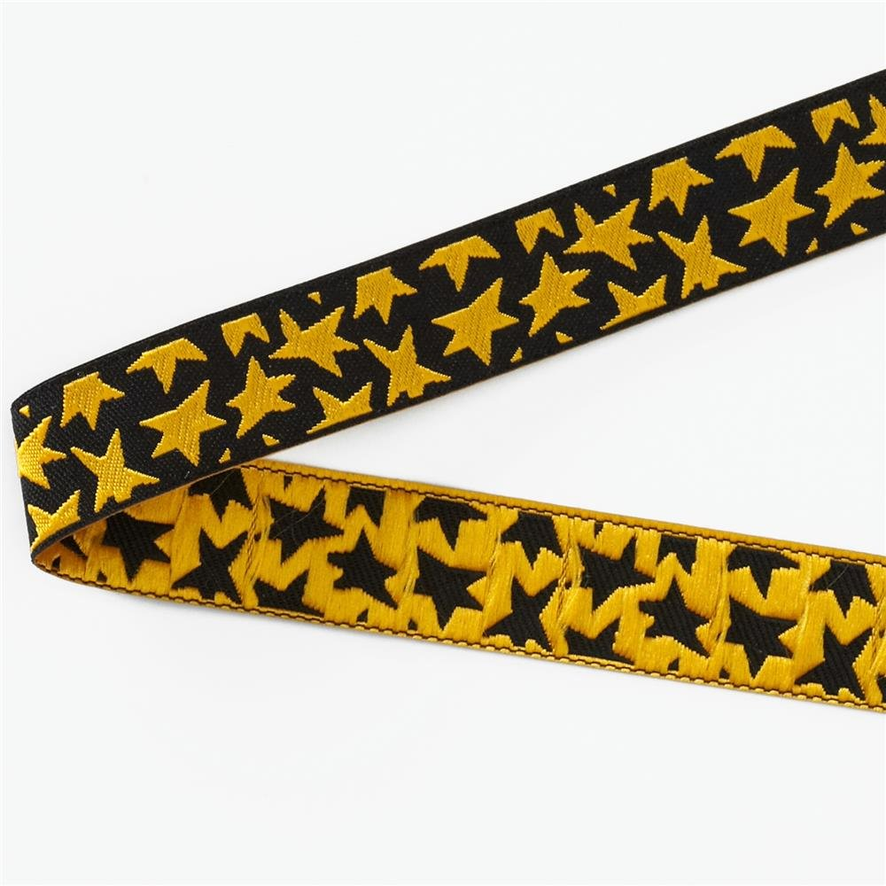 Luella Doss Ribbon gold stars on black
