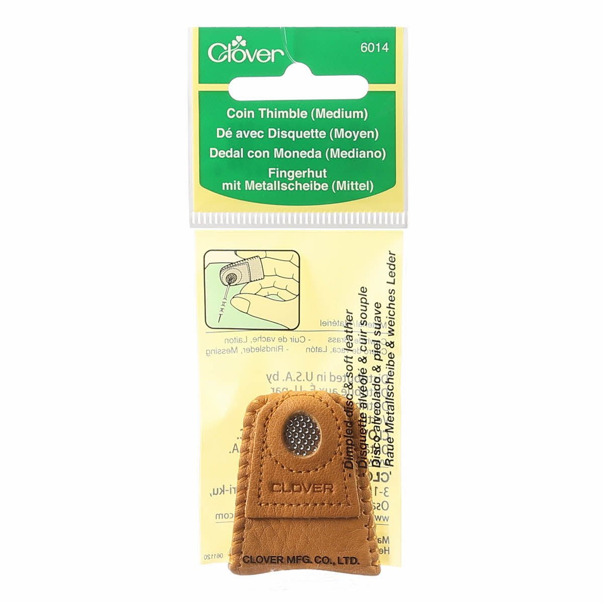 Leather Coin Thimble (M)