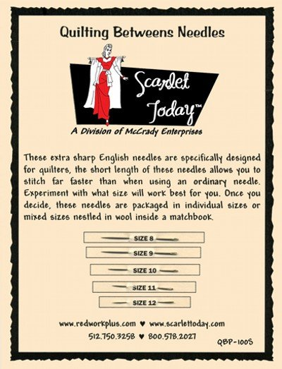 Scarlet Today Betweens Sampler