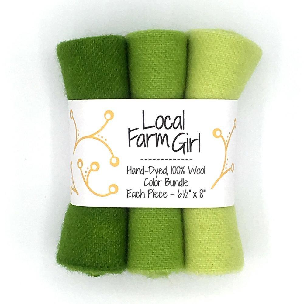 Hand-Dyed, 100% Wool Color Bundle Lettuce