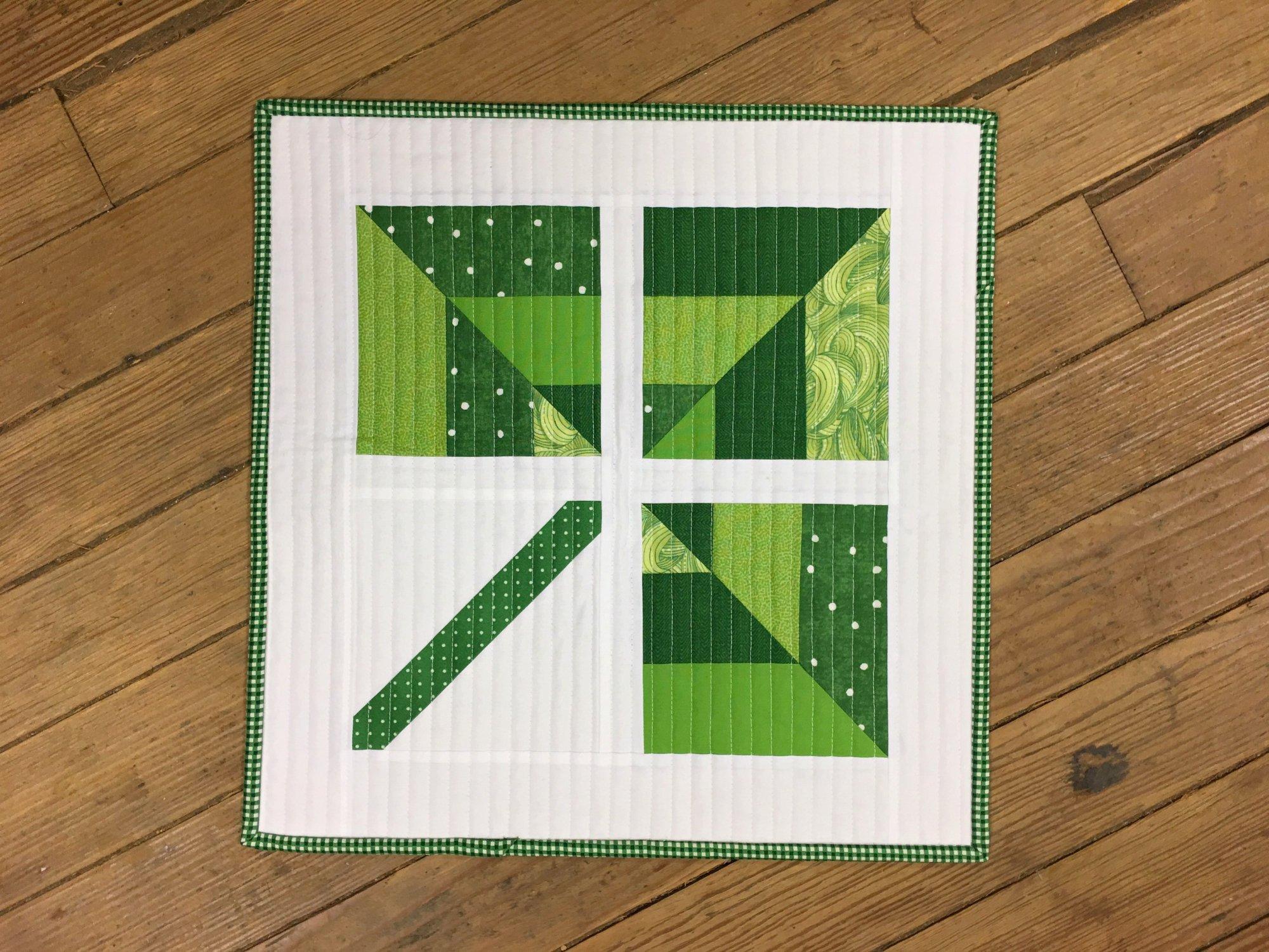 Lucky Mini Quilt Kit (pattern from Megan Pitz of Canoe Ridge Creations)