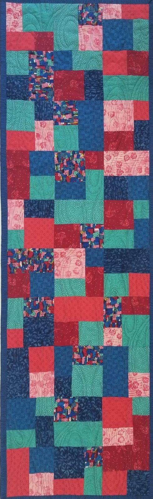 City Scape Mini Brick Road Fabric Kit