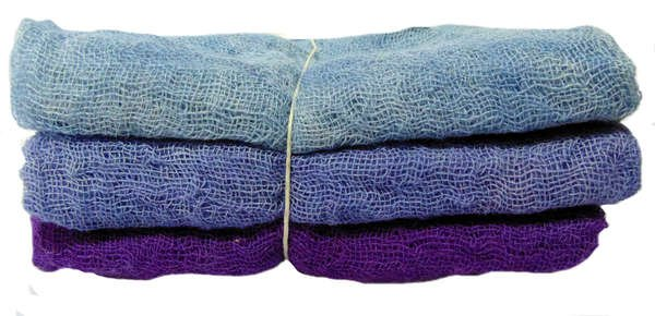 Hand-Dyed Cheesecloth Gradation Color Mulberry