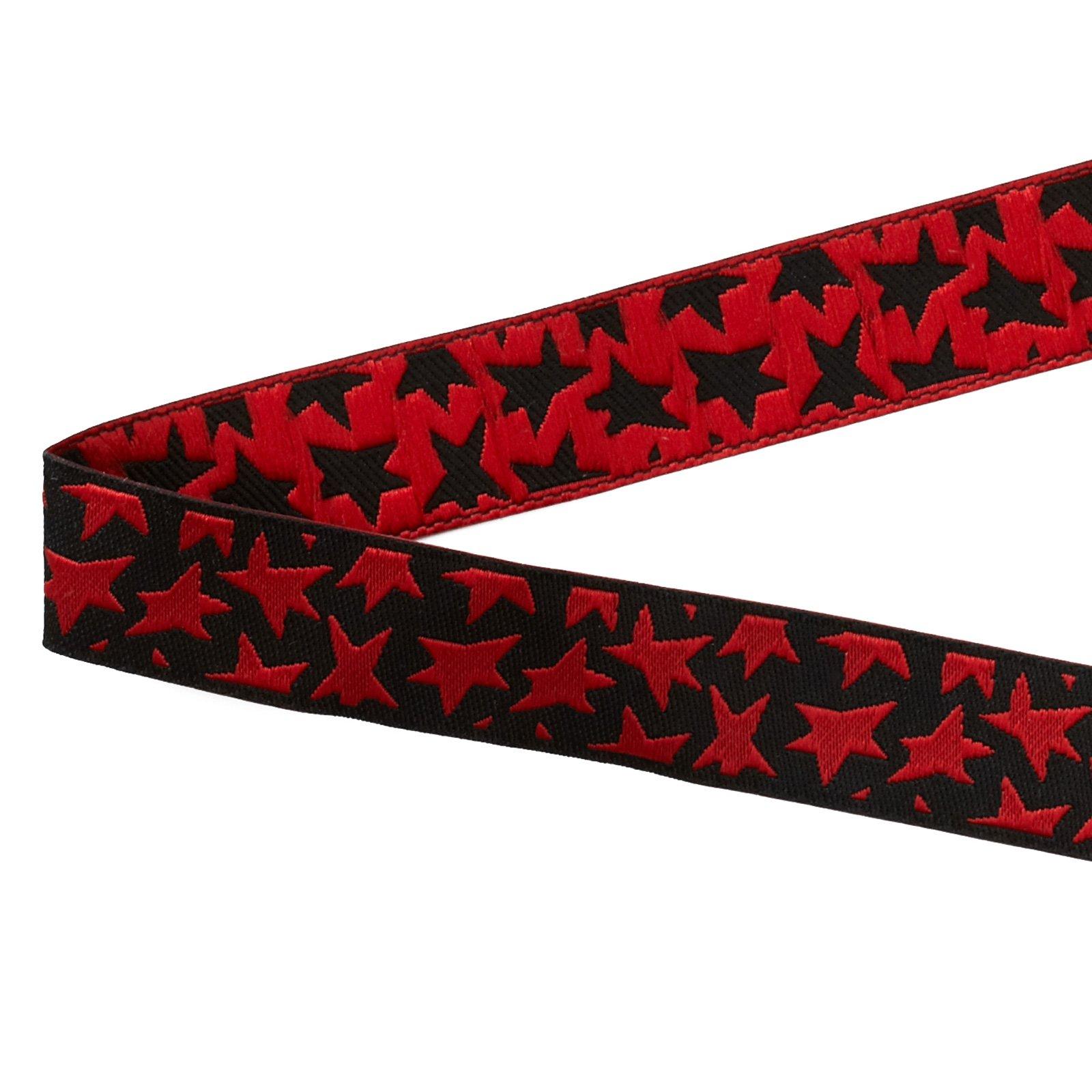 Luella Doss Ribbon red star on black