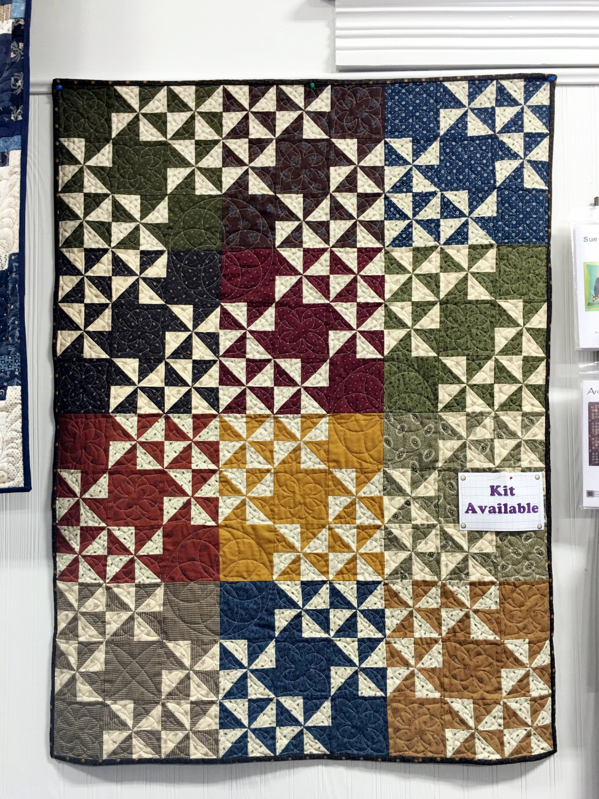 Pinwheel Puzzle Fabric Kit