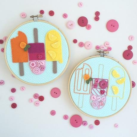 JABC Pretty Popsicles Embroidery/Wool Kit