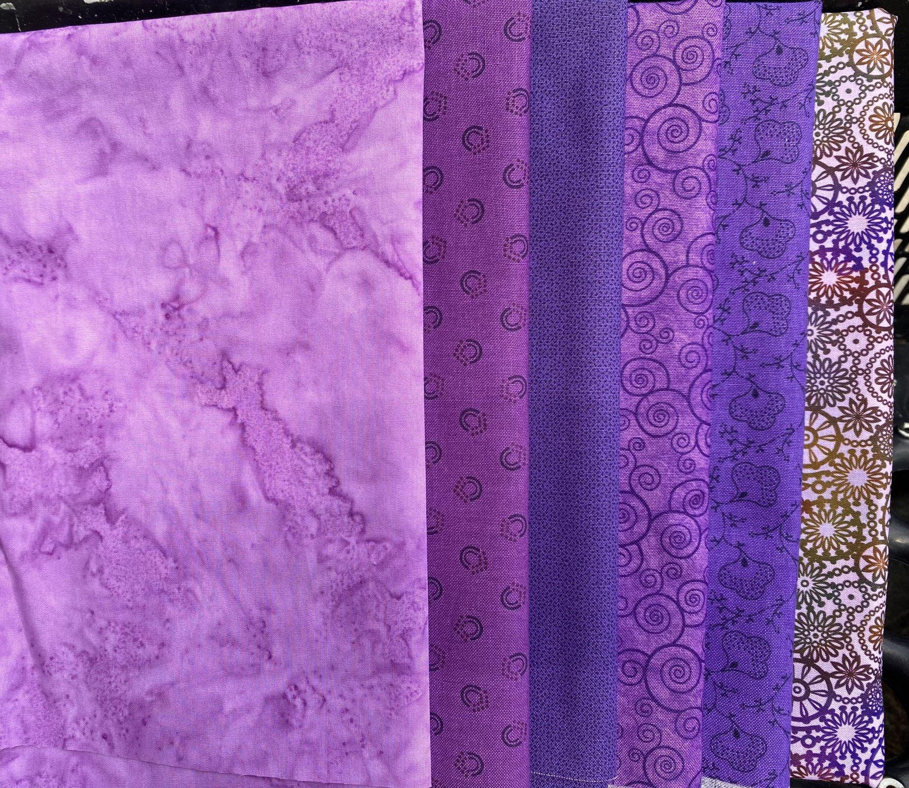 Purple Prints Fat Quarter Bundle