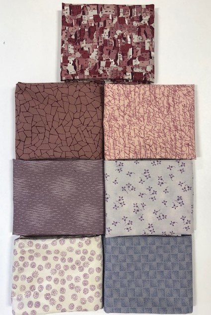Quilters Coordinates Muted Lilac Fat Quarter Bundle