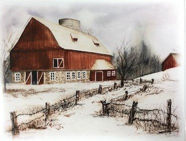 Carolyn Reeder Barn cards set f