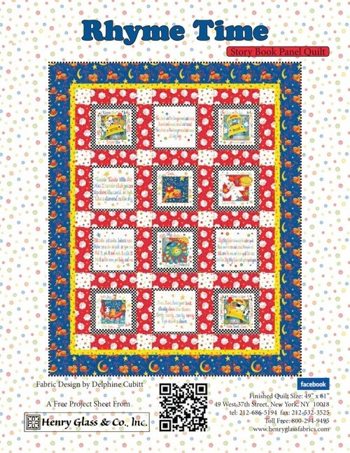 Rhyme Time Book Panel Quilt FREE Pattern
