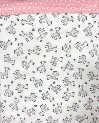 Snuggle in the Jungle White Zebra Receiving Blanket Kit
