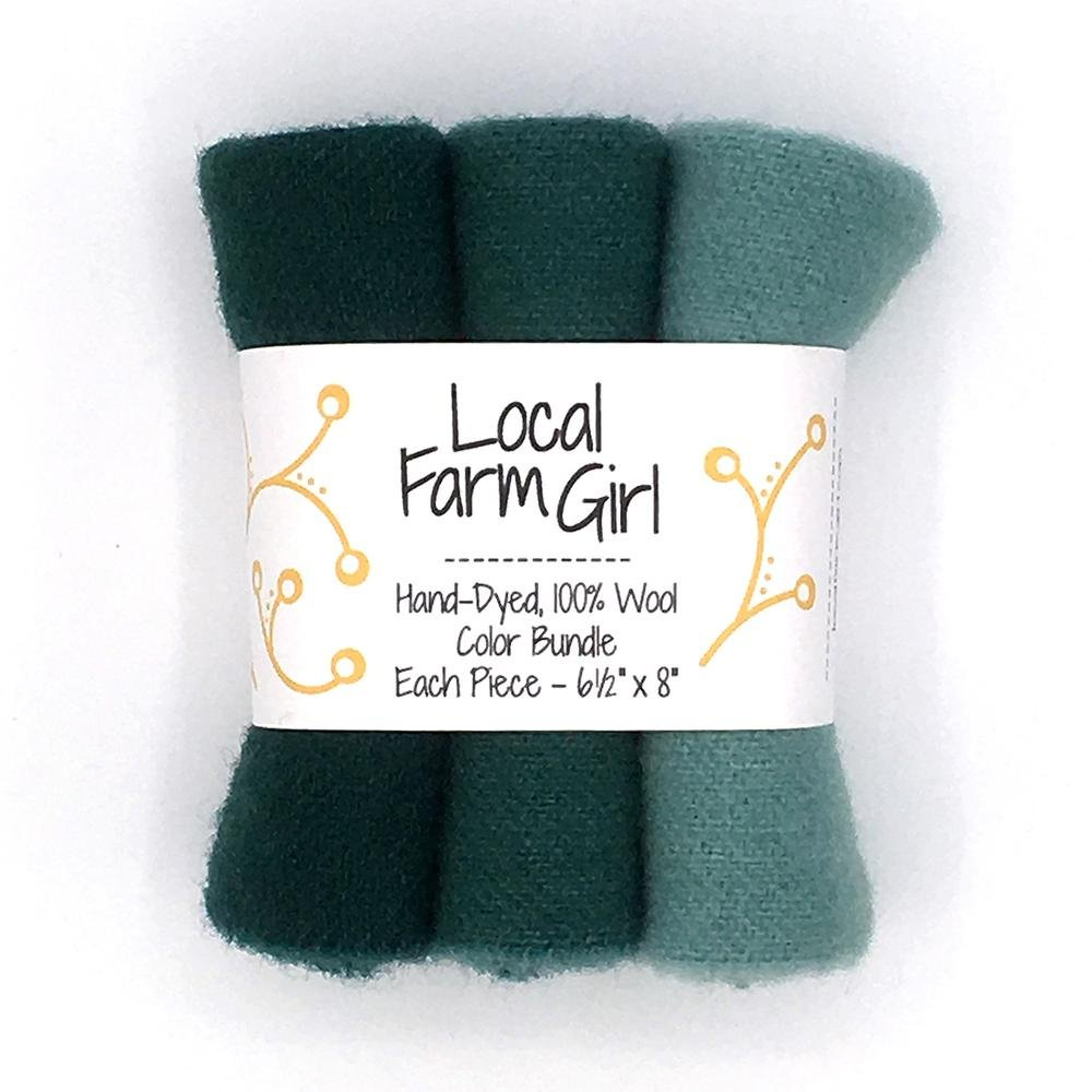Hand-Dyed, 100% Wool Color Bundle Spruce