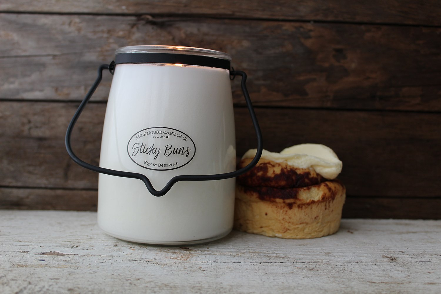 22oz Butter Jar Candle - Sticky Buns