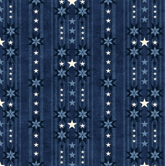 Heartland Blue Stars by Studio e Fabrics