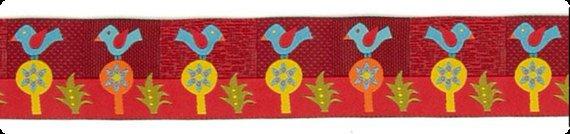 Sue Spargo Folkloric Blue Bird Ribbon