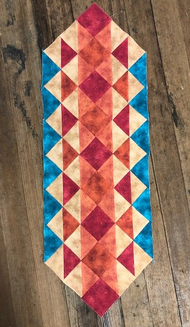 Rapture Terrific Triangles Table Runner