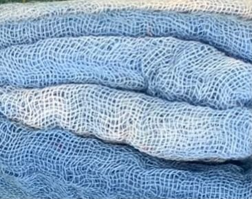 Hand-Dyed Cheesecloth Gradation Color Blueberry