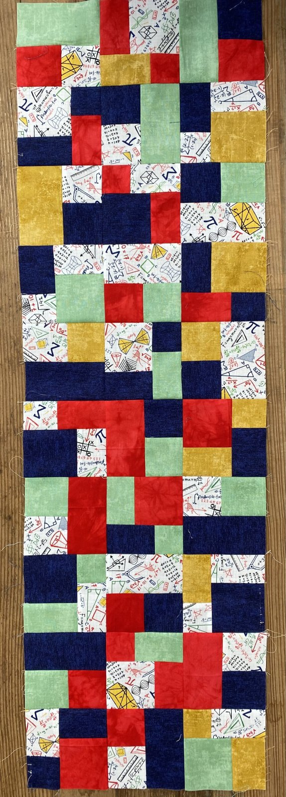 Time for Math Mini Brick Road Table Runner