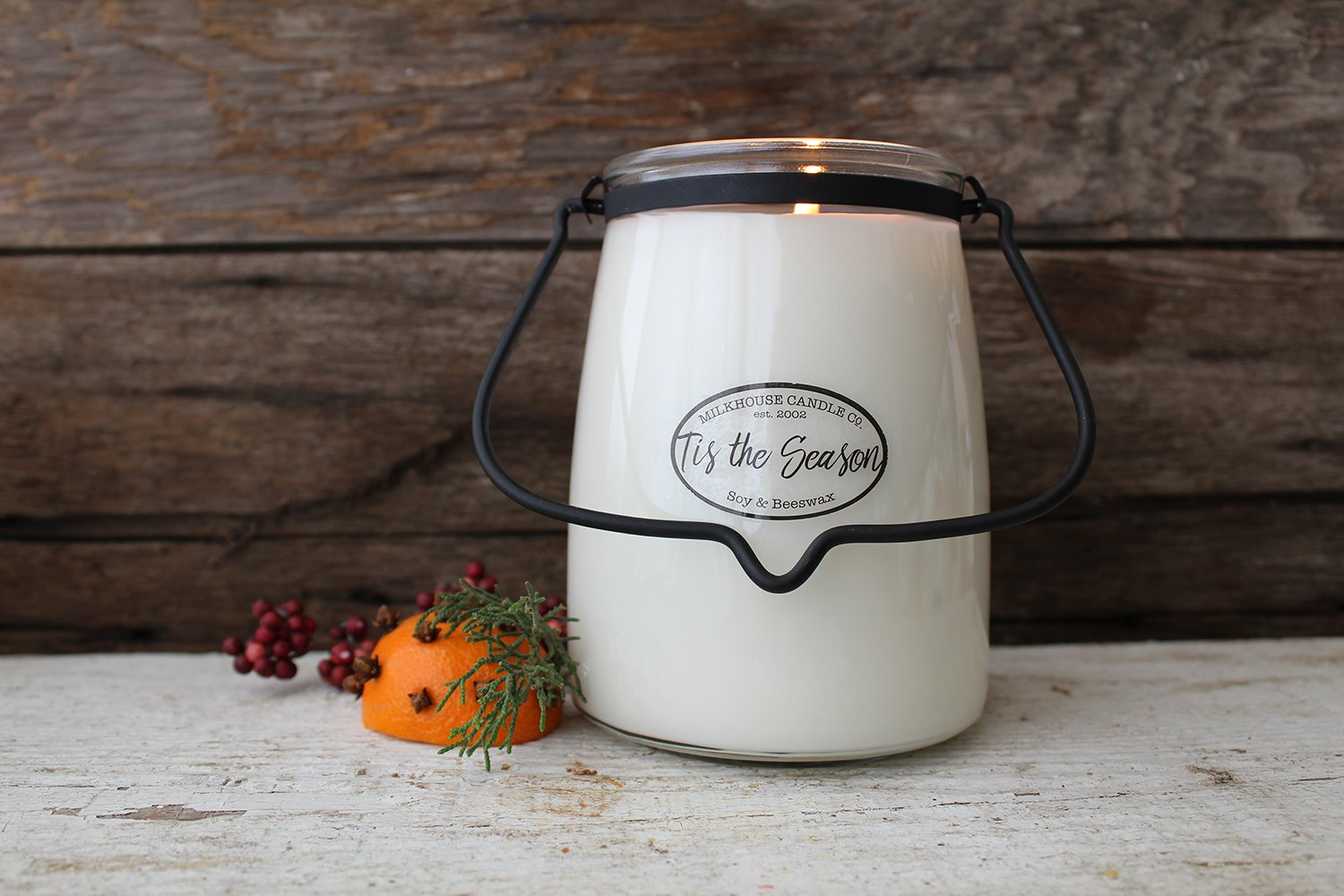 22oz Butter Jar Candle -Tis the Season