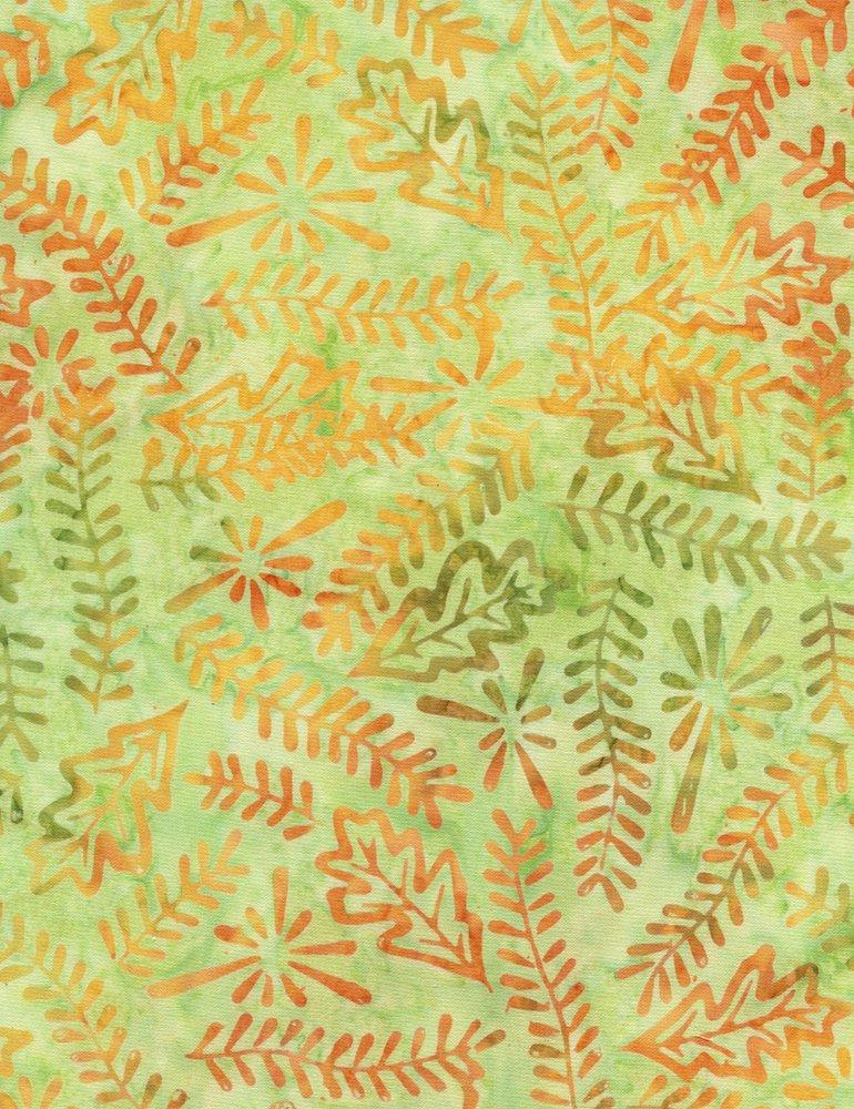 Timeless Treasures Tonga Batik-Nature Hike Limeade