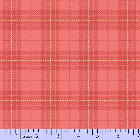 Primo Plaid Flannel coral plaid