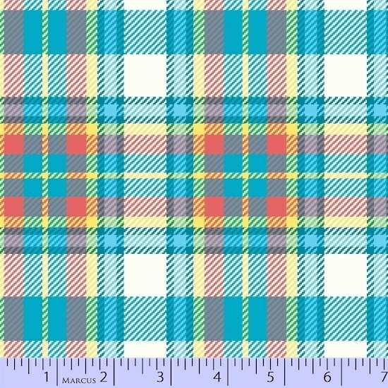 Primo Plaid Flannel large teal and yellow plaid