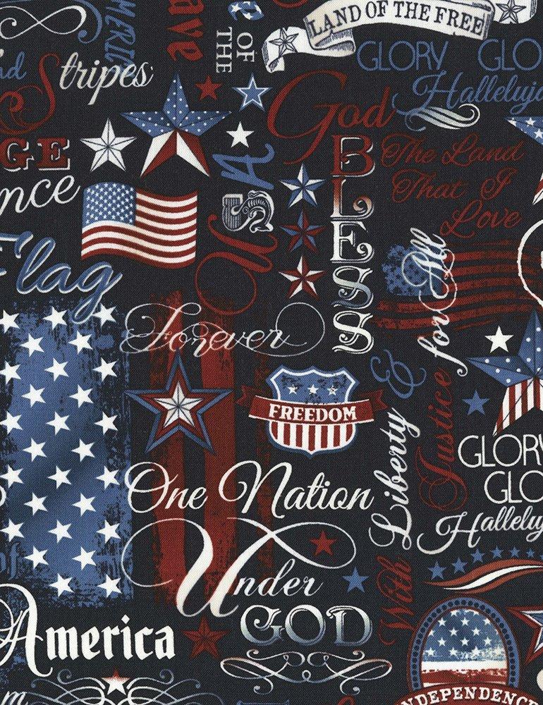 USA-C5280 Patriotic Words Navy