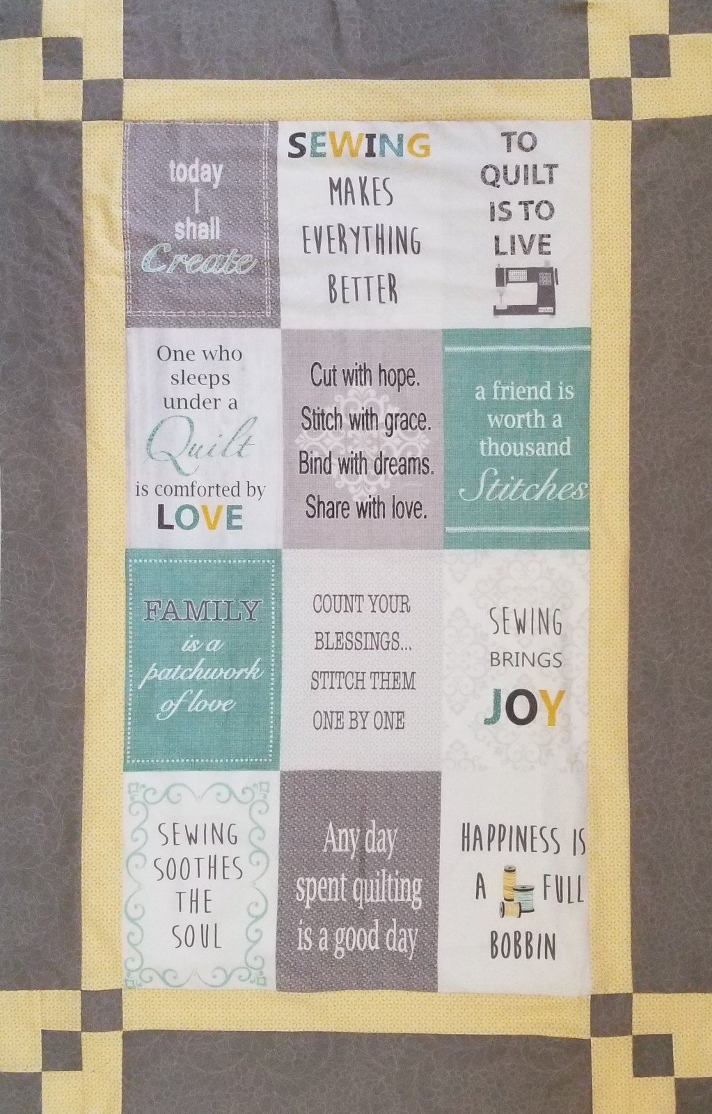 Words to Quilt By Panel Magic Fabric Kit