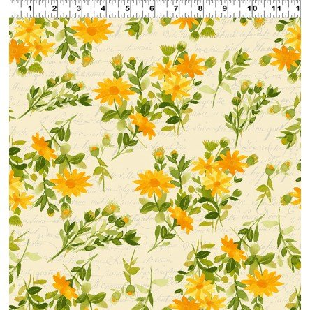 Fresh Picked Yellow Floral by Sue Zipkin