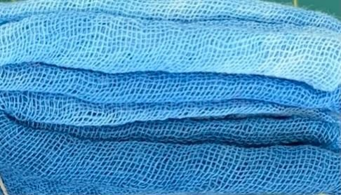 Hand-Dyed Cheesecloth Gradation Color Lt. Ocean Blue