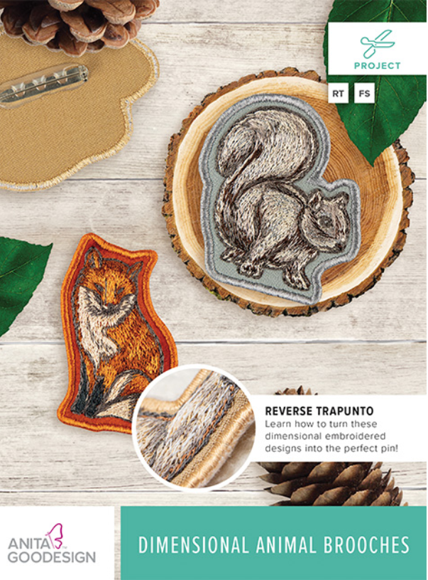 Dimensional Animal Brooches