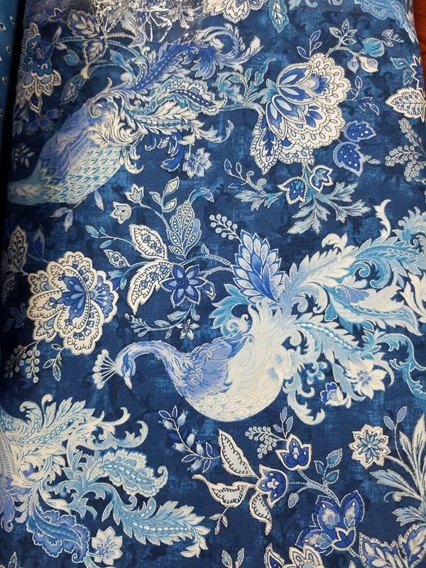 Peacocks in Blue OA6010102-15 Blue Peacock/Dark Blue