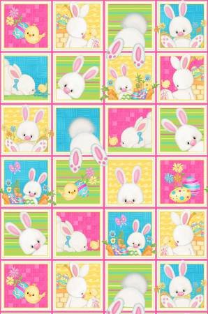 Hop to it Bunny Squares Multi 6853 21