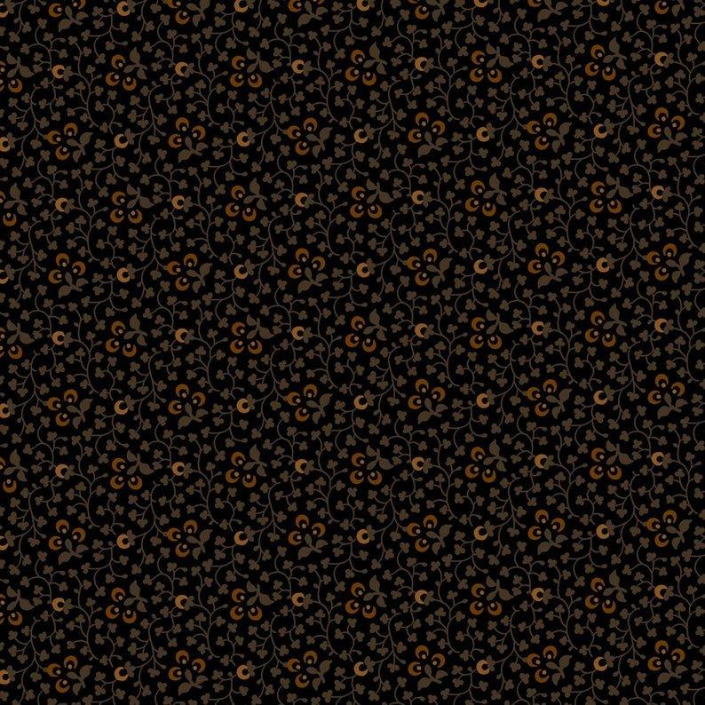 0856-0112  Black Spoon Flowers Forever More Pam Buda