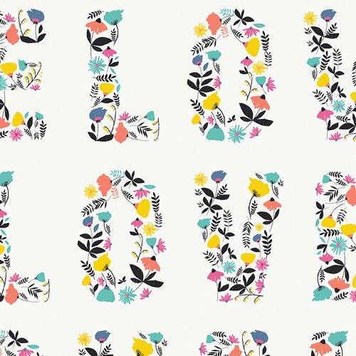 Capsule: Letters Love Blooms CAP-L-3006
