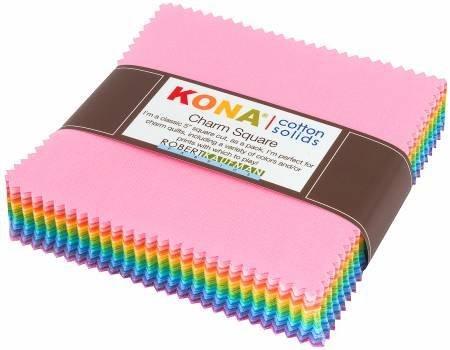 Kona Cotton Pastel Colorstory 5 Squares CHS-692-85