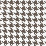 Taupe Mud Everyday Houndstooth