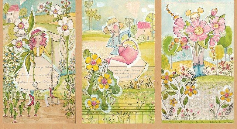 Garden Girls 112.112.01.1 Panel