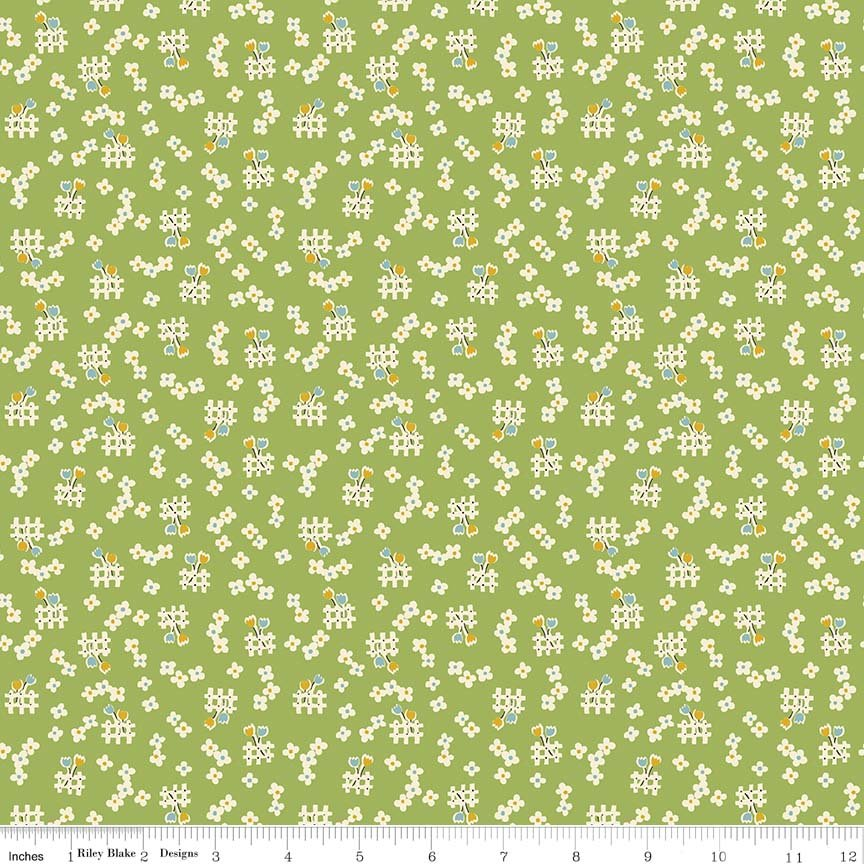 Toy Chest 2 Toy Floral 5616 Green