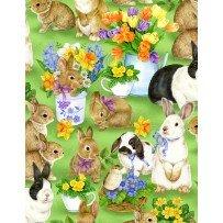 Garden Gathering Bunnies A/O Green 28126 725