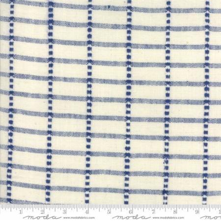 moda toweling cream with blue 920 257