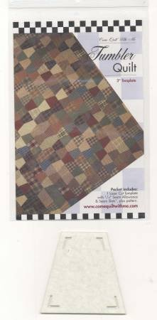 Tumbler quilt pattern & template