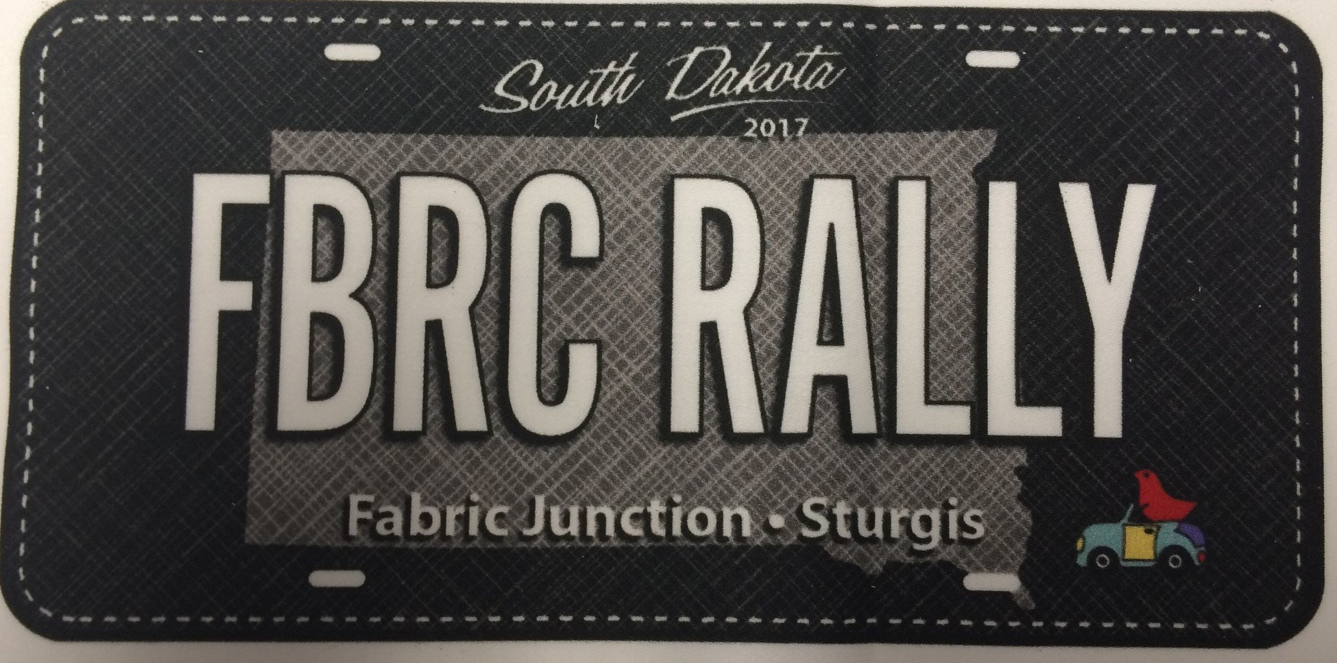 Fabric Junction Fabric Rally License Plate 2017