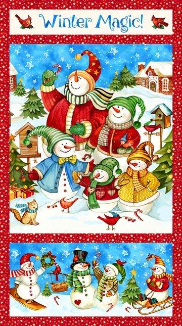 Northcott Winter Magic Panel