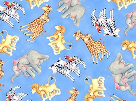 Quilting Treasures Baby Zoo Crew