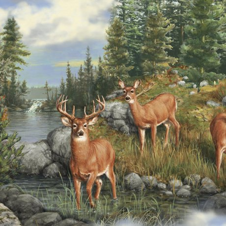 Quilting Treasures Deer Mountain
