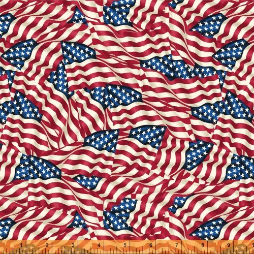 Windham Fabrics Multi Flags 108in Wideback