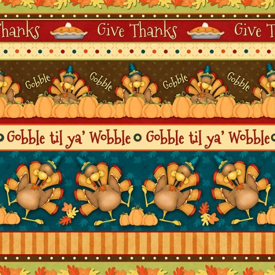 Henry Glass & Co Give Thanks Border Print