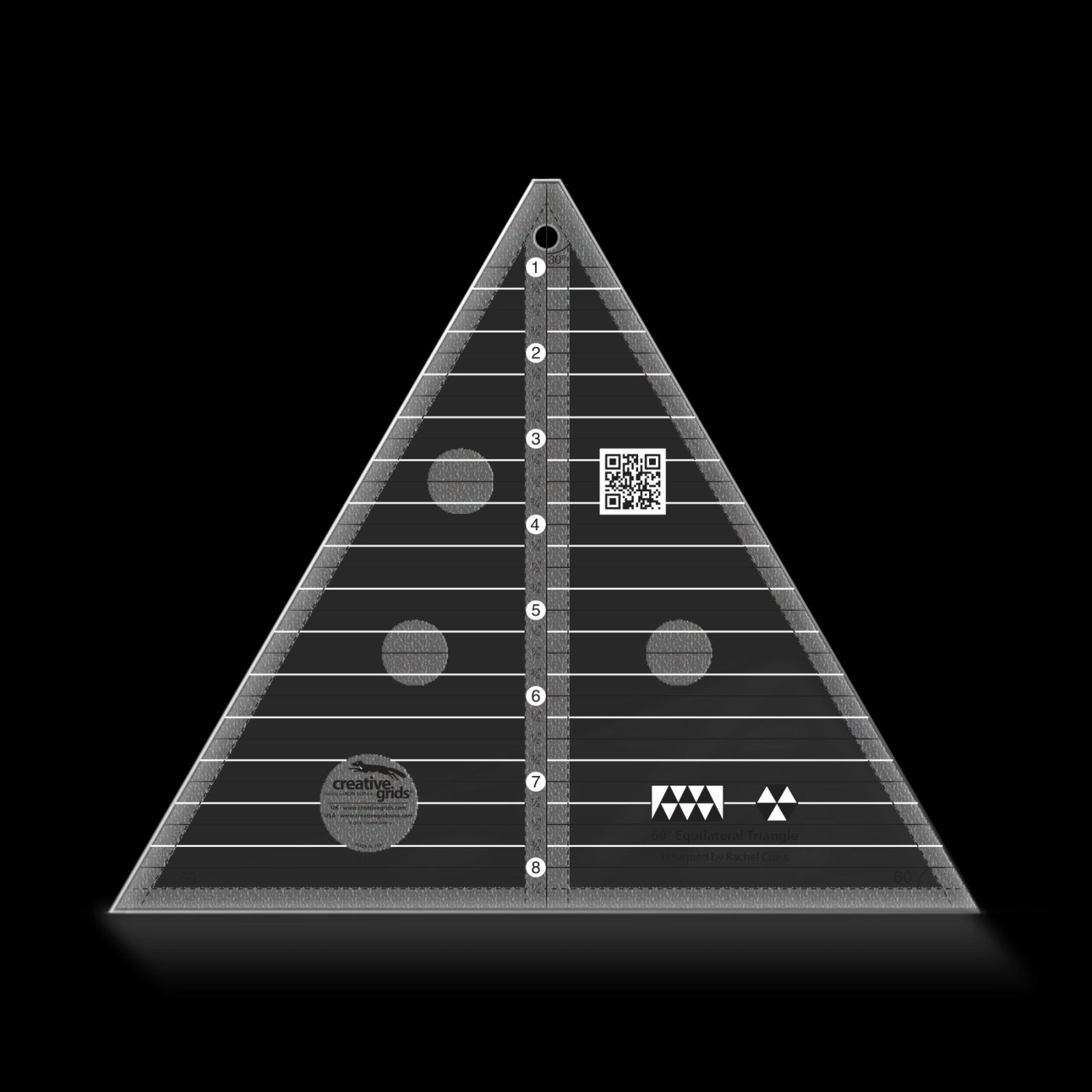 Creative Grids Non-Slip 60 Degree Triangle
